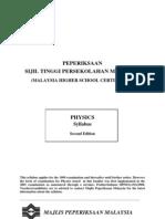 Sukatan Pelajaran Physics STPM