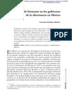 El Regimen de bienestar en los Gobiernos de alternancia en México