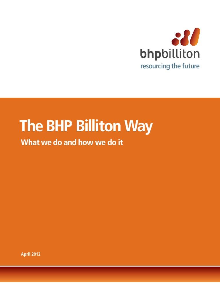 bhp billiton competitive advantage