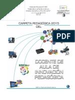 Carpeta Pedagógica DAIP 2015