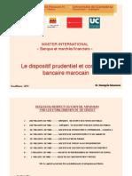 Le Dispositif Prudentiel Et Comptable Marocain