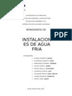 Instalaciones de Agua fria (Fontaneria)
