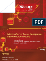Windows Server Power Management Implementation Details