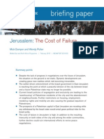 Chatham House Briefing Paper Feb10 [Jerusalem -- The Cost of Failure]