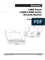 Honeywell l5200/l7000 Programming Guide