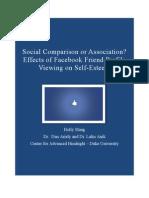 Social Comparison or Association? Effects of Facebook Friend Profile Viewing on Self-Esteem