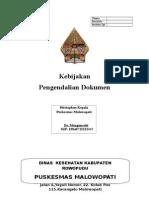 Sampul Kebijakan Pengedalian Dokumen