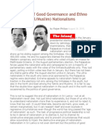 The Politics of Good Governance and Ethno (Sinhala-Tamil-Muslim) Nationalisms