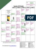 SCDNF September 2015 Schedule