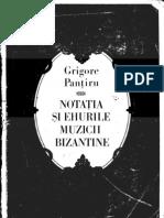 Notatia Muzicii Bizantine,G.pantiru