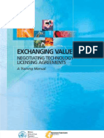 EXCHANGING VALUE NEGOTIATING TECHNOLOGY LICENSING AGREEMENTS