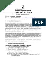 Syllabus - Economia clasica