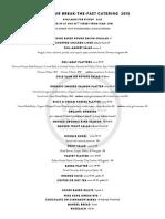 Yom Kippur 2015 Catering Menu
