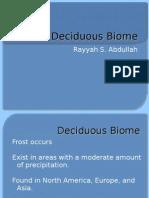 Deciduous Biome