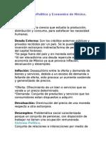 Entorno SocioPolitico y Economico de México