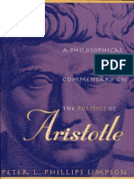 Peter L. Phillips Simpson a Philosophical Commentary on the Politics of Aristotle 1998