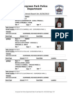 Evergreen Park Arrests Aug. 21-27, 2015