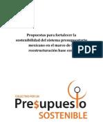 Propuestas Para Inclusión en Normativas Vinculadas Al Proceso Presupuestal 2016