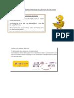 Guía de Refuerzo decimales