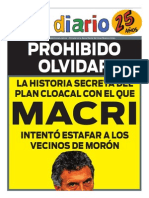 Plan Cloacal Rousselot-Macri (El Diario de Morón)