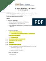 Formato Del Plan de Iniciativa Empresrial