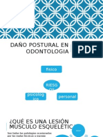Daño Postural en Odontologia