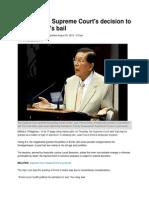 SC Decision on Enrile Bail Plus PhilStar Article