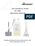 Sinowon Ultrasonic Hardness Tester SU-200 Operation Manual En