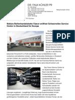 Nokian-Reifenhandelskette Vianor eröffnet Schwerreifen Service Center in Deutschland für Europa