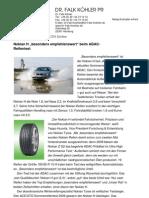 """Nokian H """"besonders empfehlenswert"""" beim ADAC-Reifentest"""