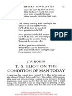 J. P. Hodin_T, S. Eliot on the Condition of Man Today
