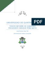 Resumen de 3 Informe de Gobierno