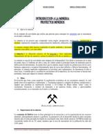 Tema I - Introd. Mineria y Proyectos Mineros