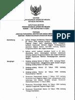 KEPMENPAN No. 139 TAHUN 2003_Jabatan Fungsional Dokter Dan Angka Kreditnya