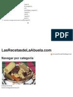 Recetas de Cocina Mexicana de La Abuela