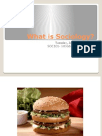 Lecture #1 - What is Sociology UPDATED