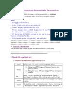 Reacharge & Balance Inquiry Procedure