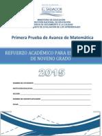 Pruebadeavancede9grado Matemtica2015 150727141537 Lva1 App6891