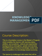1Knowledge Management Course Outline and Modules