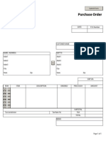 Purchase Order for Product Sales Order