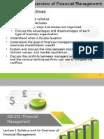 Financial Management Lesson 1 Introduction
