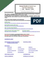 Mental Health Bulletin No 242 March 1st 2010