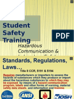 Student Safety Training Fall 2015 Powerpoint