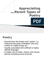 Appreciating Different Types of Poetry