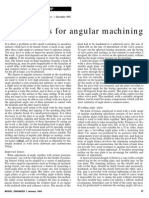 Fixtures for Angular Machining