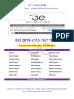 2015 - 2016 Ieee .Net Project Titles