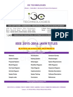 2015 - 2016 Ieee Java Project Titles