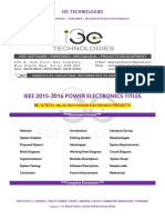 2015 - 2016 Ieee Power Electronics Titles