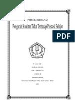 Makalah Psi Islam Pengaruh Kualitas Tidur Terhadap Prestasi Belajar