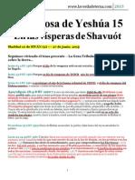 La Esposa de Yeshúa 15 - En Las Vísperas de Shavuót